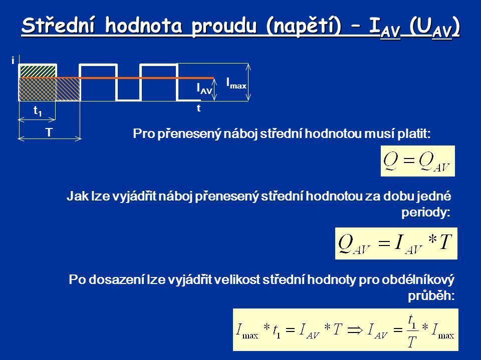 Střední hodnota proudu (napětí) – IAV (UAV)