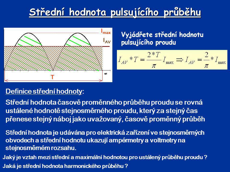 Střední hodnota pulsujícího průběhu