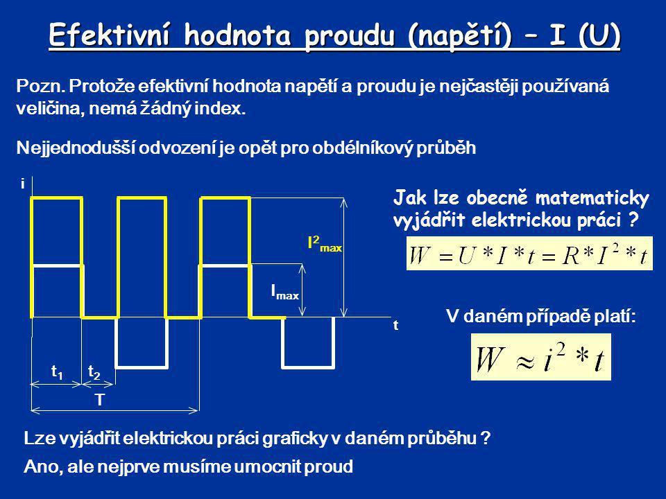 Efektivní hodnota proudu (napětí) – I (U)