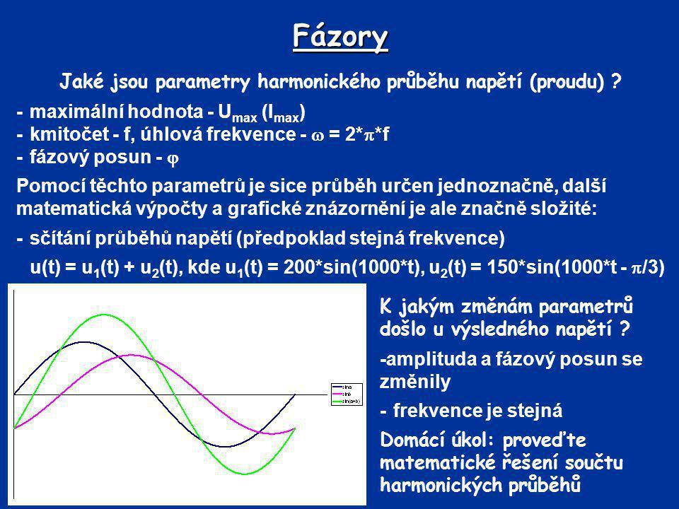 Jaké jsou parametry harmonického průběhu napětí (proudu)