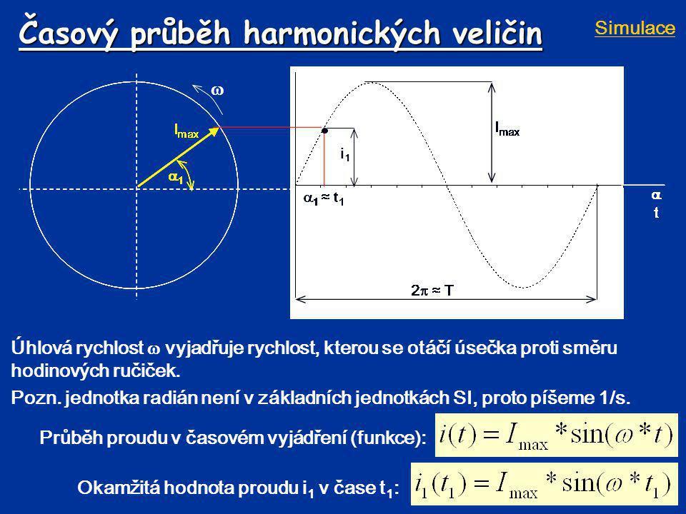 Časový průběh harmonických veličin
