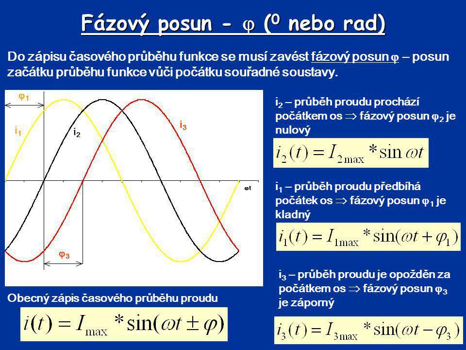 Fázový posun -  (0 nebo rad)
