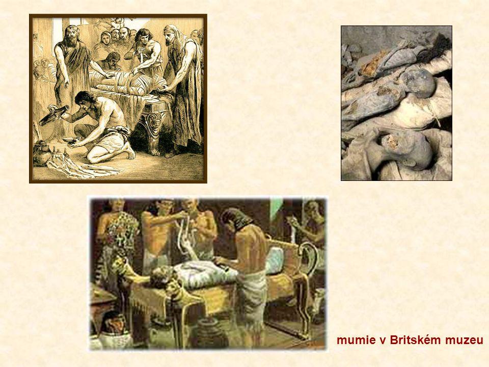 mumie v Britském muzeu