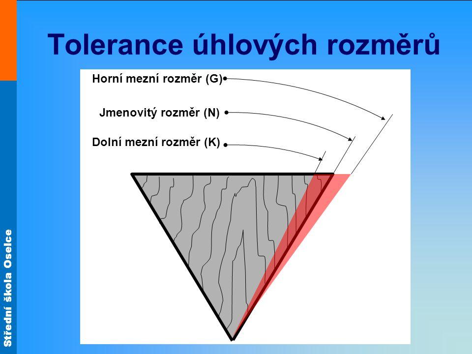 Tolerance úhlových rozměrů