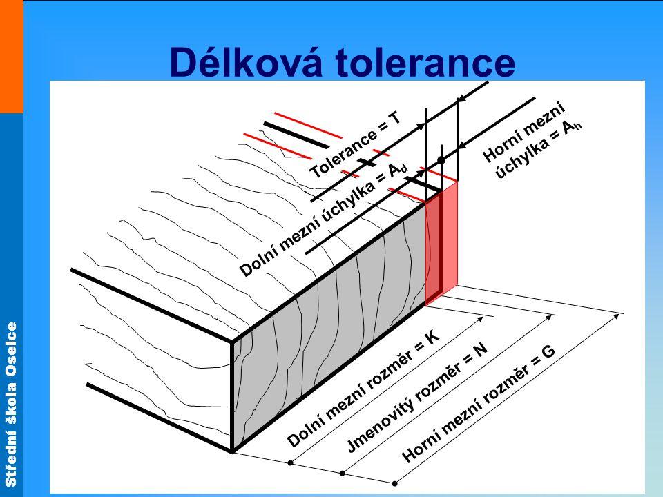 Délková tolerance Horní mezní úchylka = Ah Tolerance = T