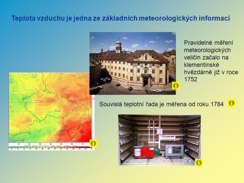 Teplota vzduchu je jedna ze základních meteorologických informací