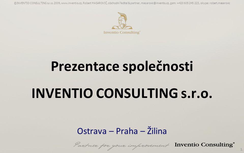 Prezentace společnosti INVENTIO CONSULTING s.r.o.