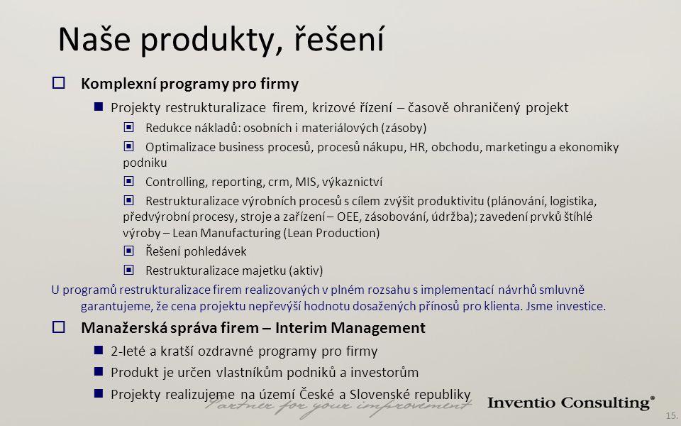Naše produkty, řešení Komplexní programy pro firmy