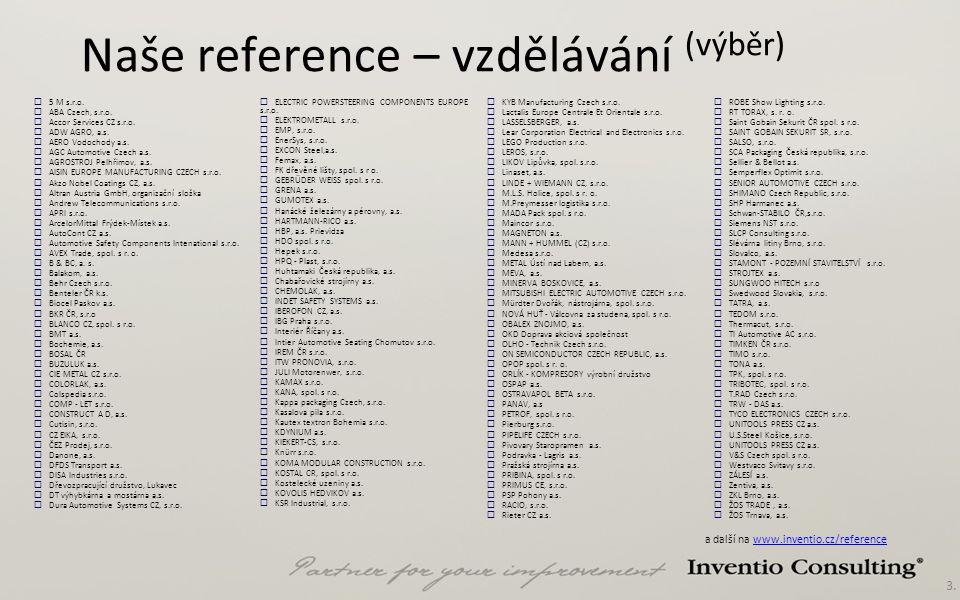 Naše reference – vzdělávání (výběr)
