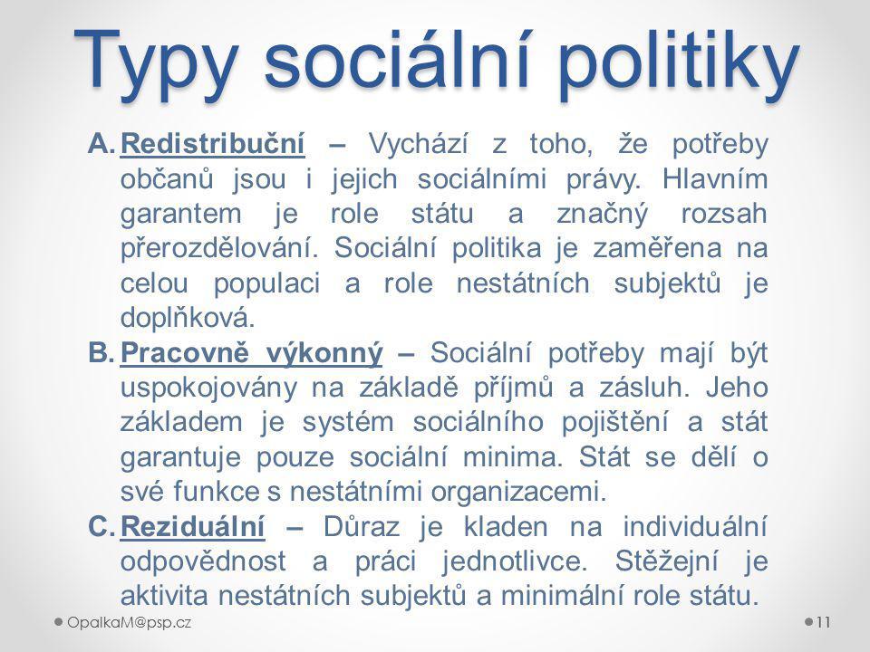 Typy sociální politiky
