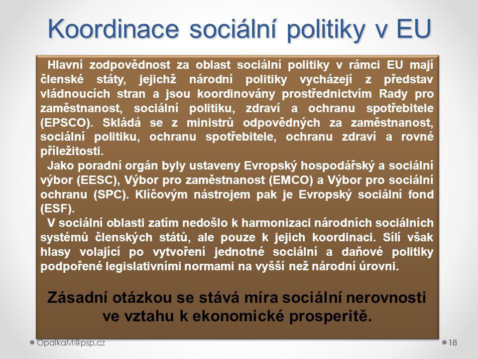 Koordinace sociální politiky v EU