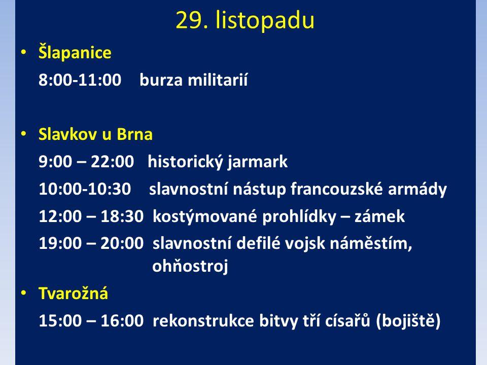 29. listopadu Šlapanice 8:00-11:00 burza militarií Slavkov u Brna