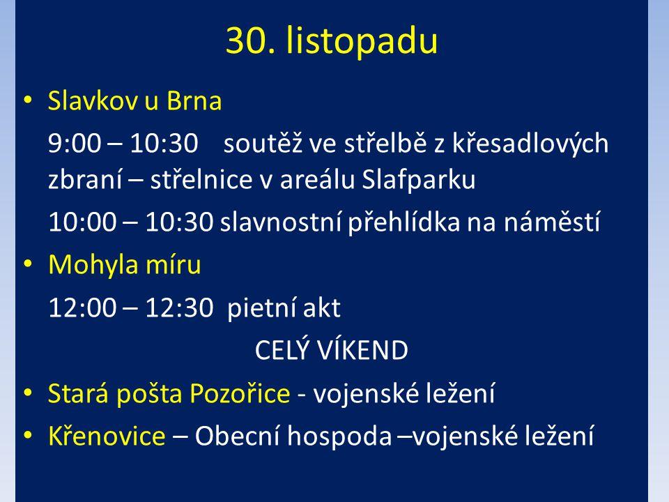 30. listopadu Slavkov u Brna