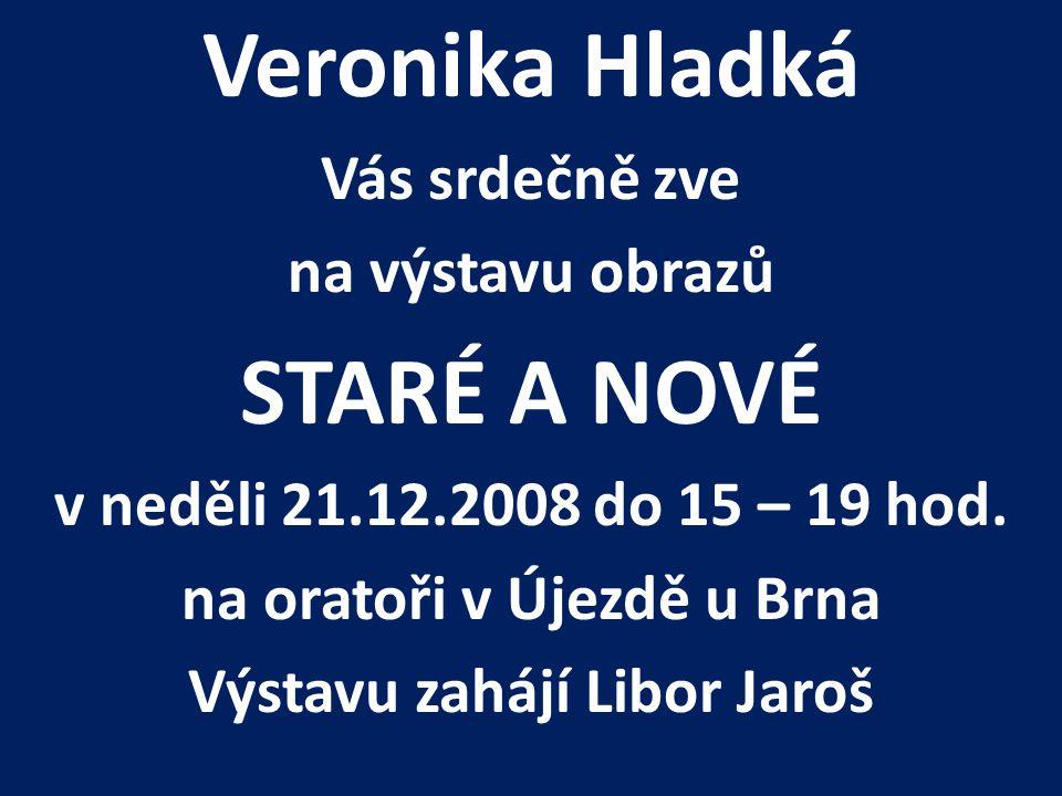 na oratoři v Újezdě u Brna Výstavu zahájí Libor Jaroš
