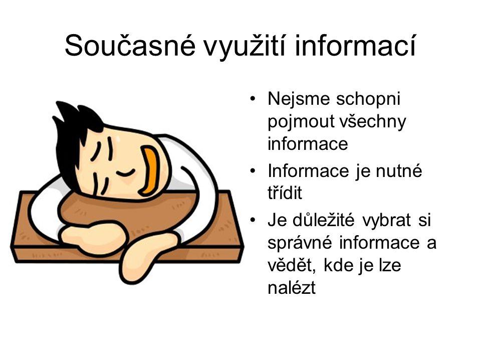 Současné využití informací