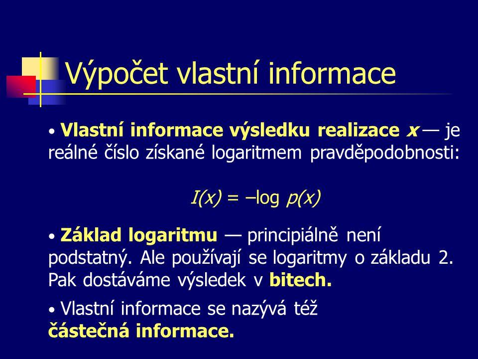 Výpočet vlastní informace