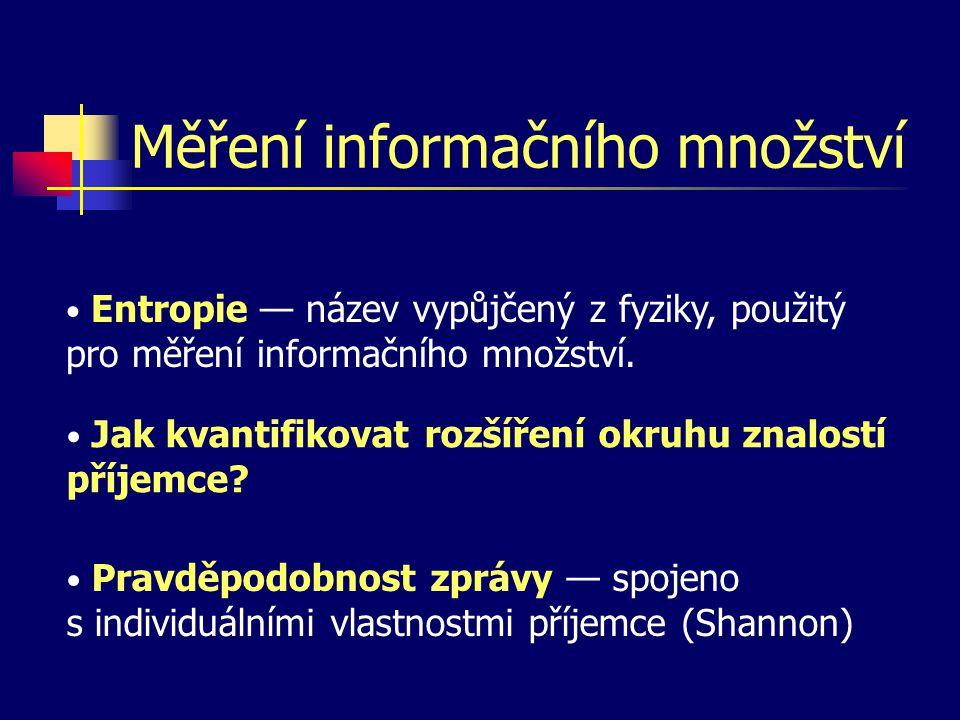 Měření informačního množství