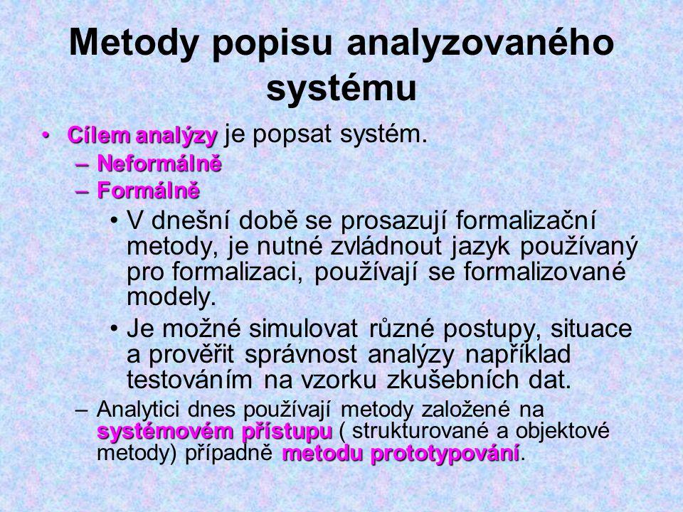 Metody popisu analyzovaného systému
