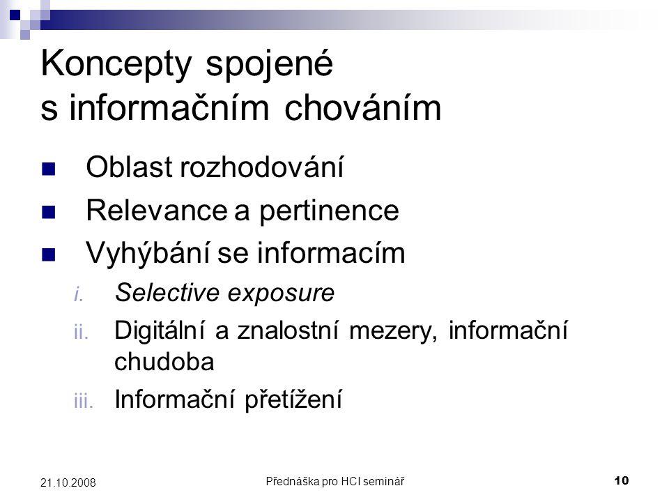 Koncepty spojené s informačním chováním