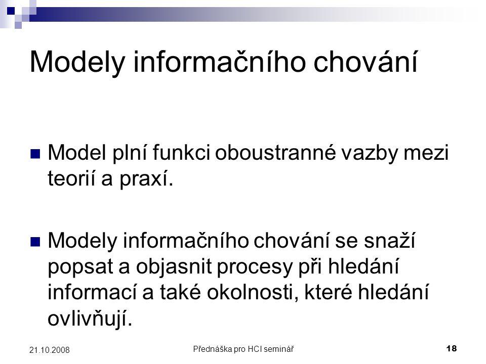 Modely informačního chování