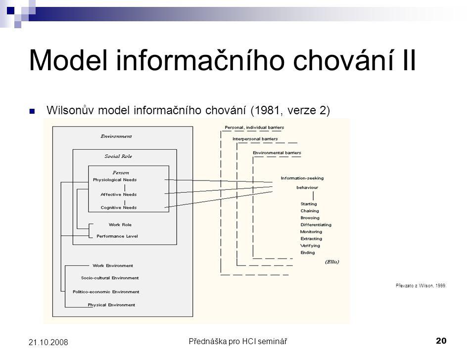 Model informačního chování II