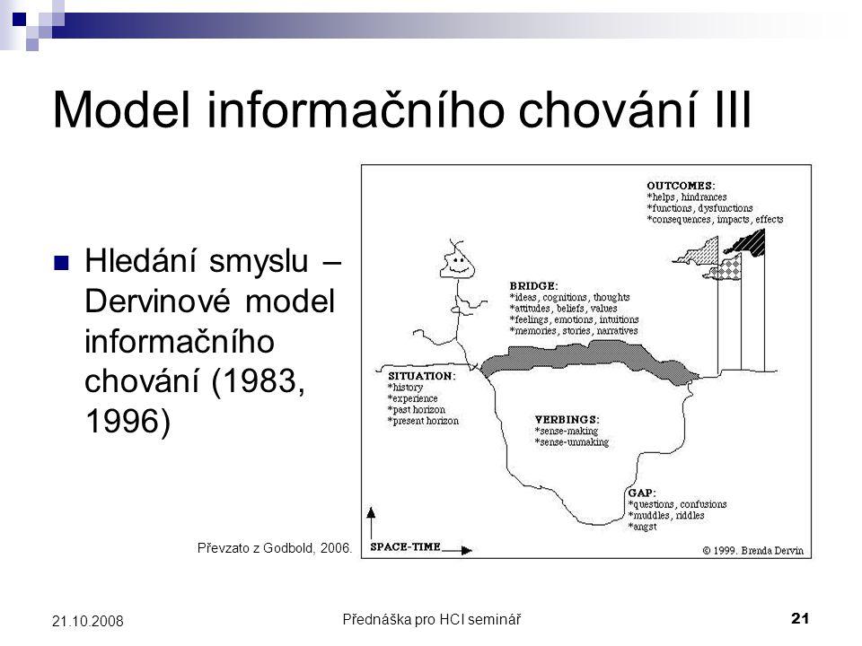 Model informačního chování III