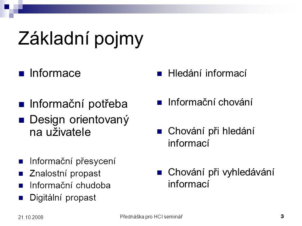 Přednáška pro HCI seminář