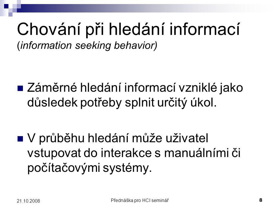 Chování při hledání informací (information seeking behavior)