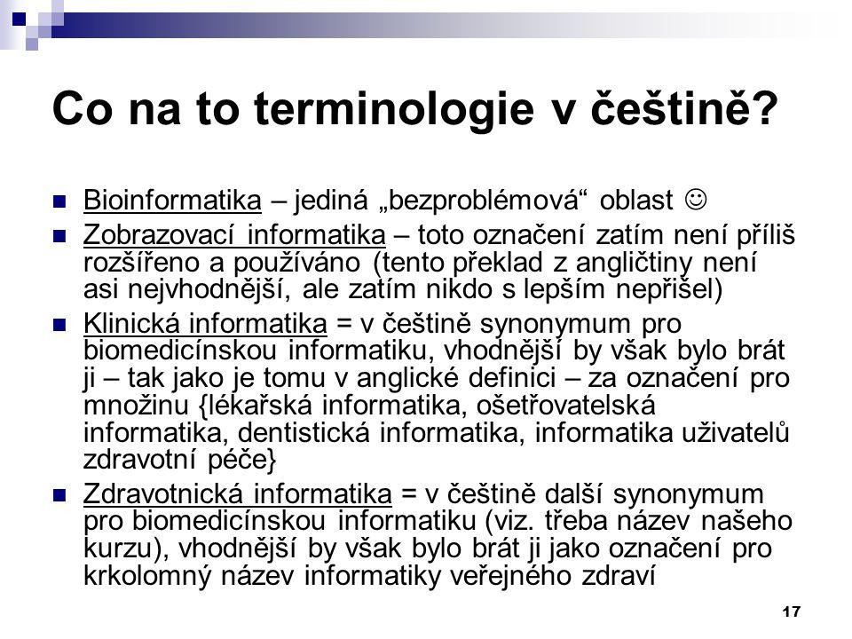 Co na to terminologie v češtině