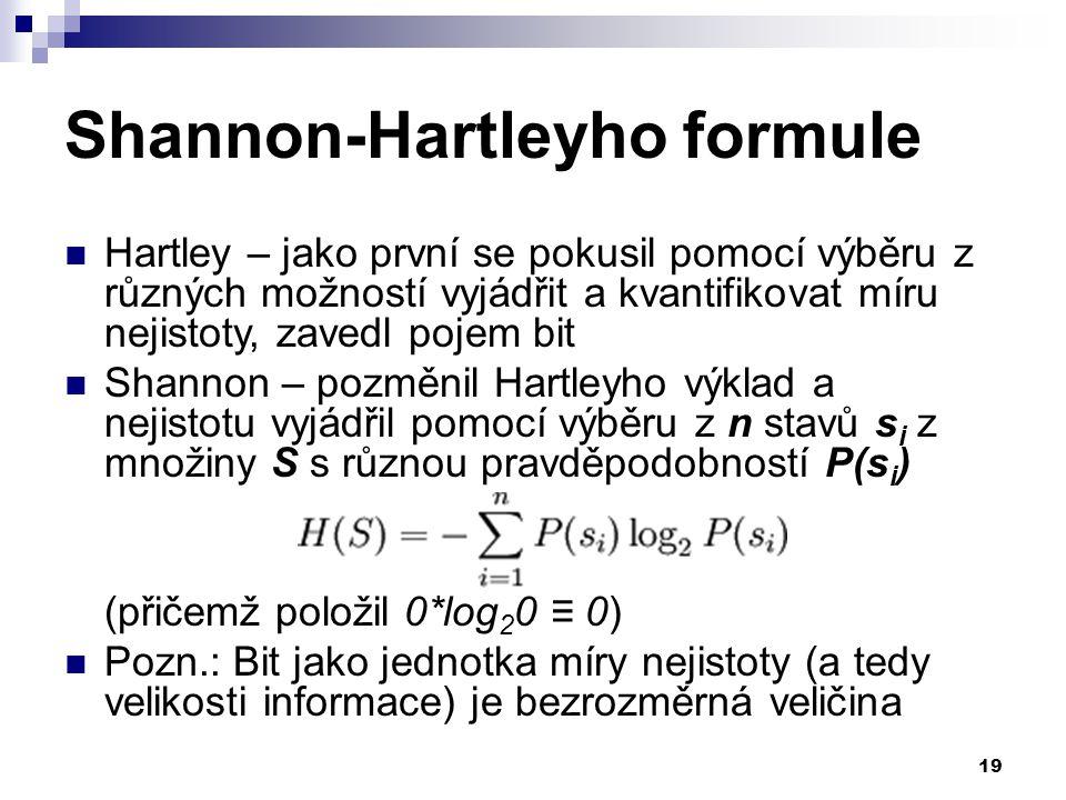 Shannon-Hartleyho formule