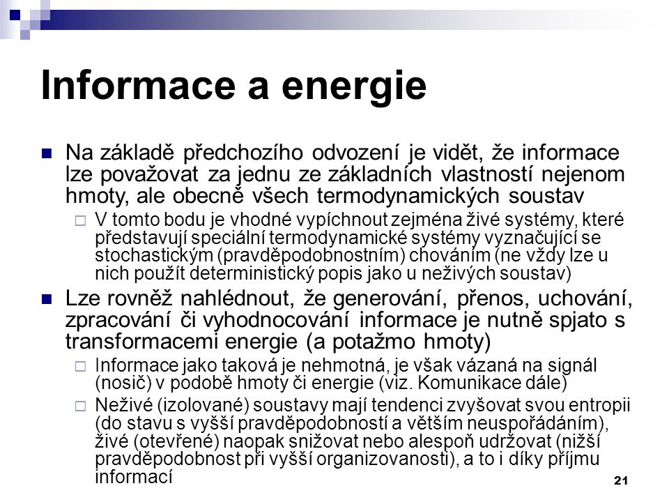 Informace a energie