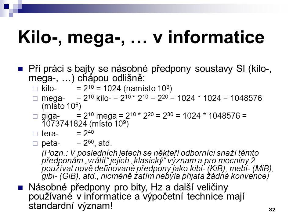 Kilo-, mega-, … v informatice