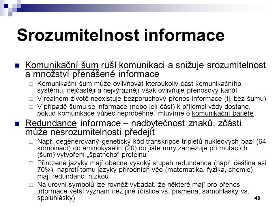 Srozumitelnost informace
