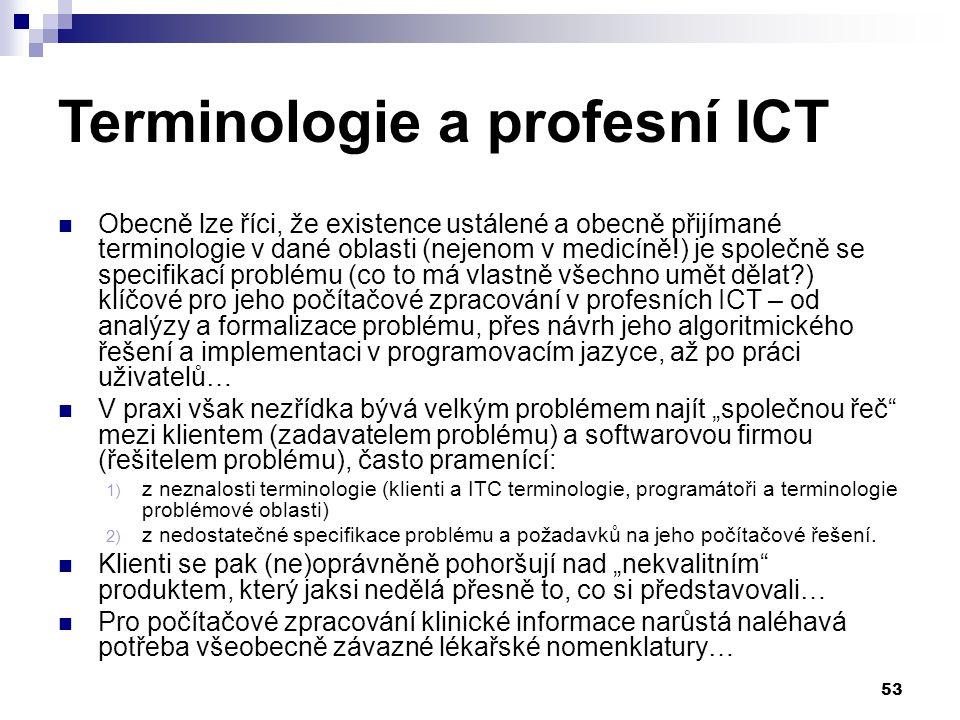 Terminologie a profesní ICT