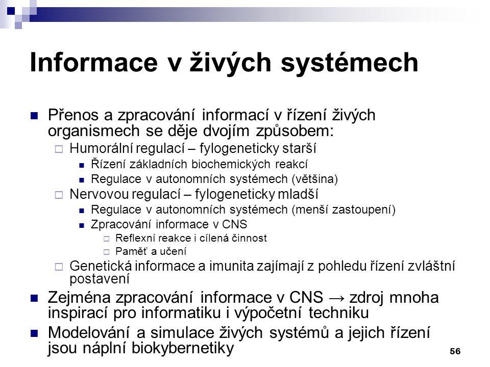 Informace v živých systémech