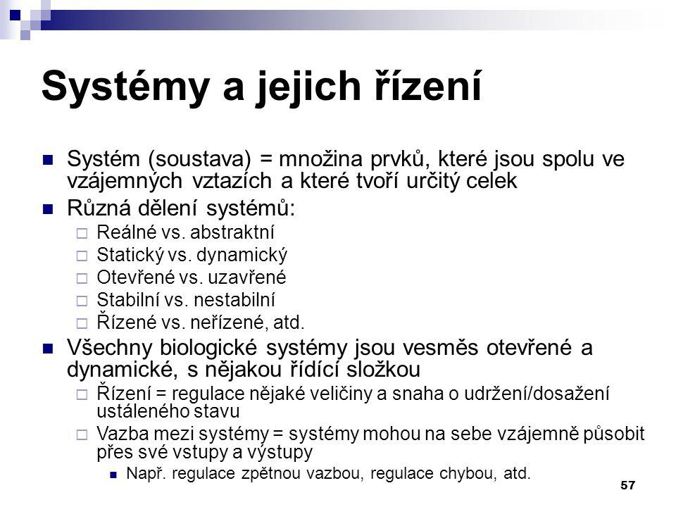 Systémy a jejich řízení