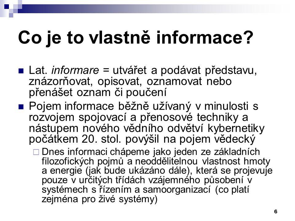 Co je to vlastně informace