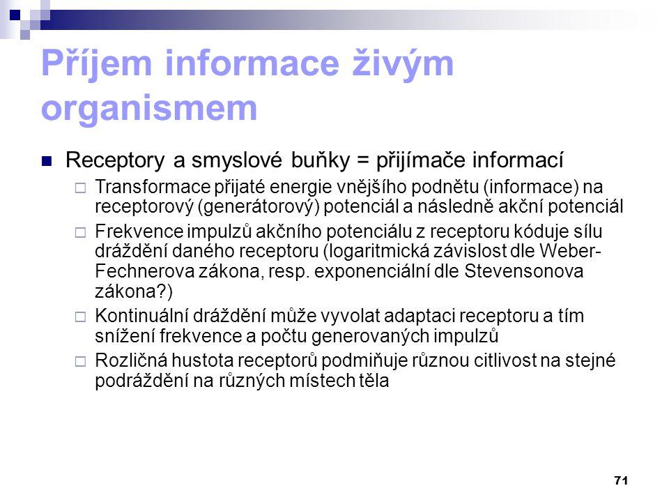 Příjem informace živým organismem