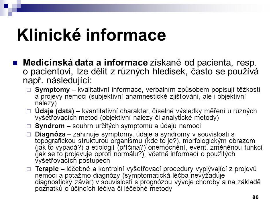 Klinické informace