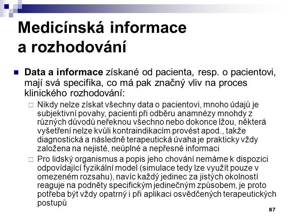 Medicínská informace a rozhodování
