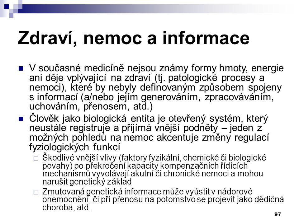 Zdraví, nemoc a informace