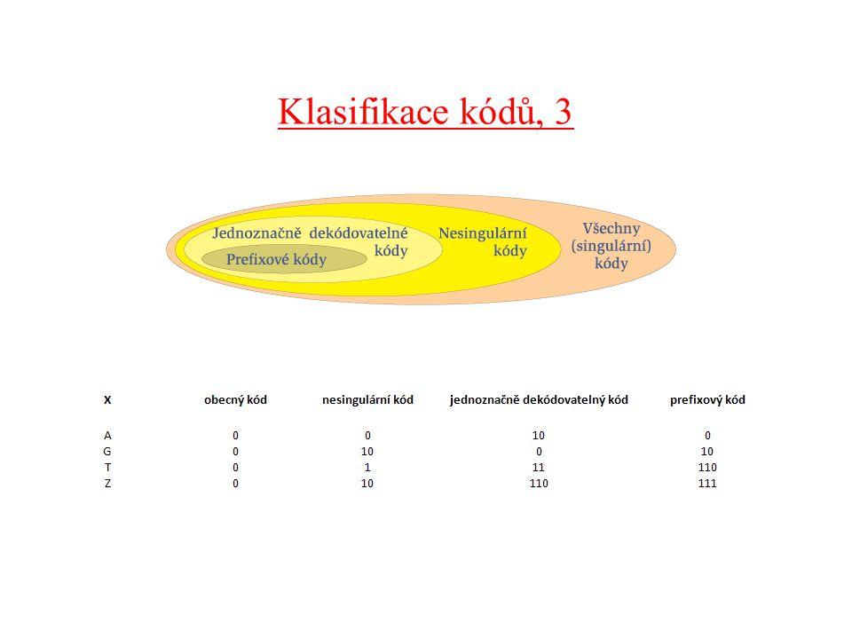 Klasifikace kódů, 3