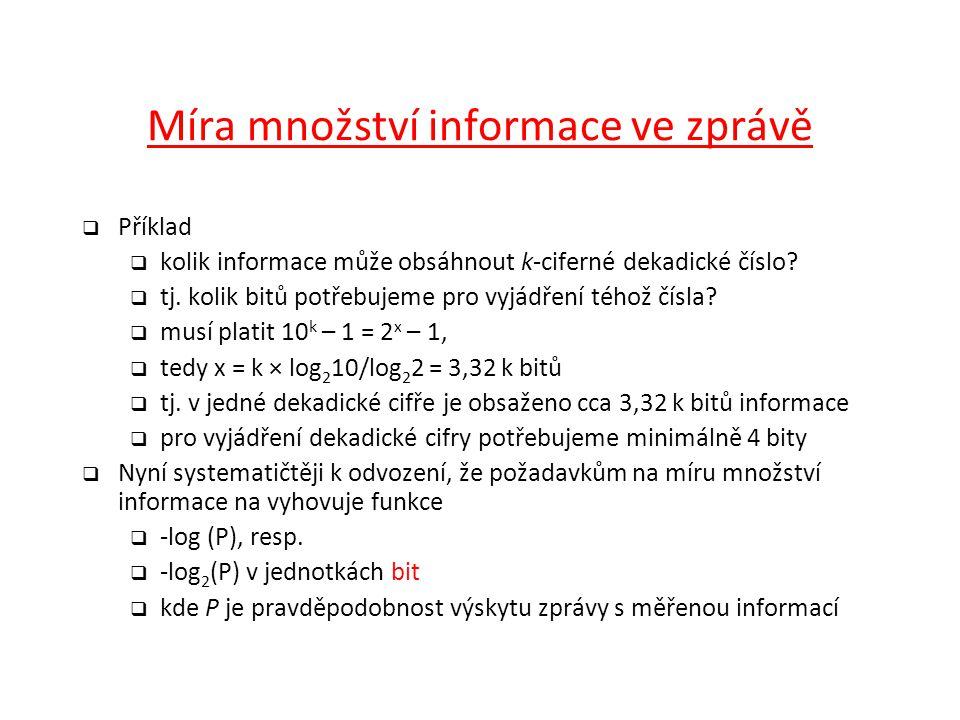 Míra množství informace ve zprávě