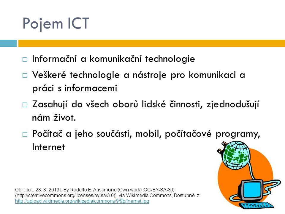 Pojem ICT Informační a komunikační technologie