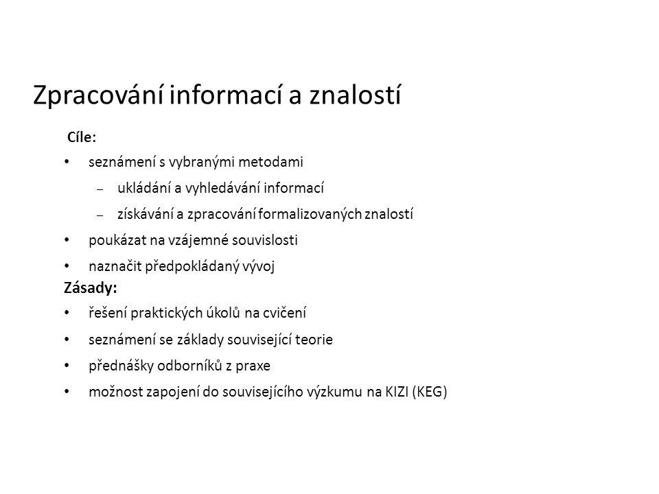 Zpracování informací a znalostí