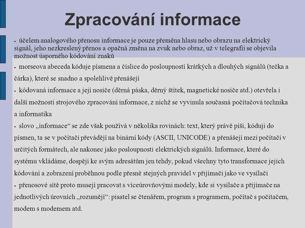 Zpracování informace