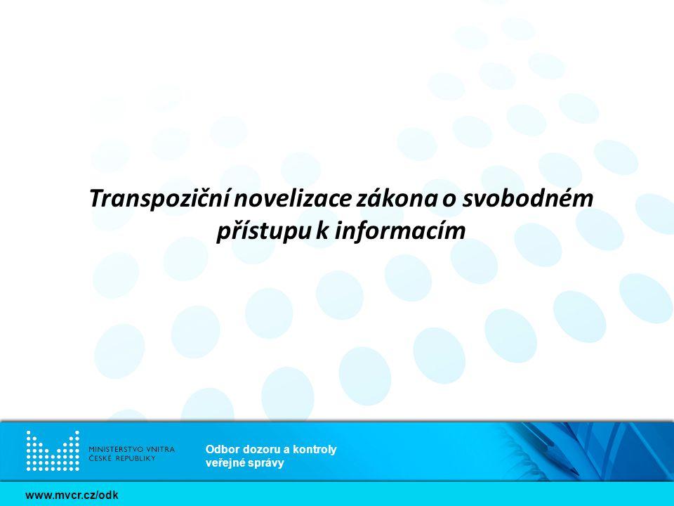 Transpoziční novelizace zákona o svobodném přístupu k informacím