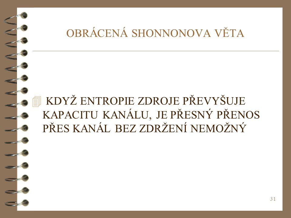 OBRÁCENÁ SHONNONOVA VĚTA
