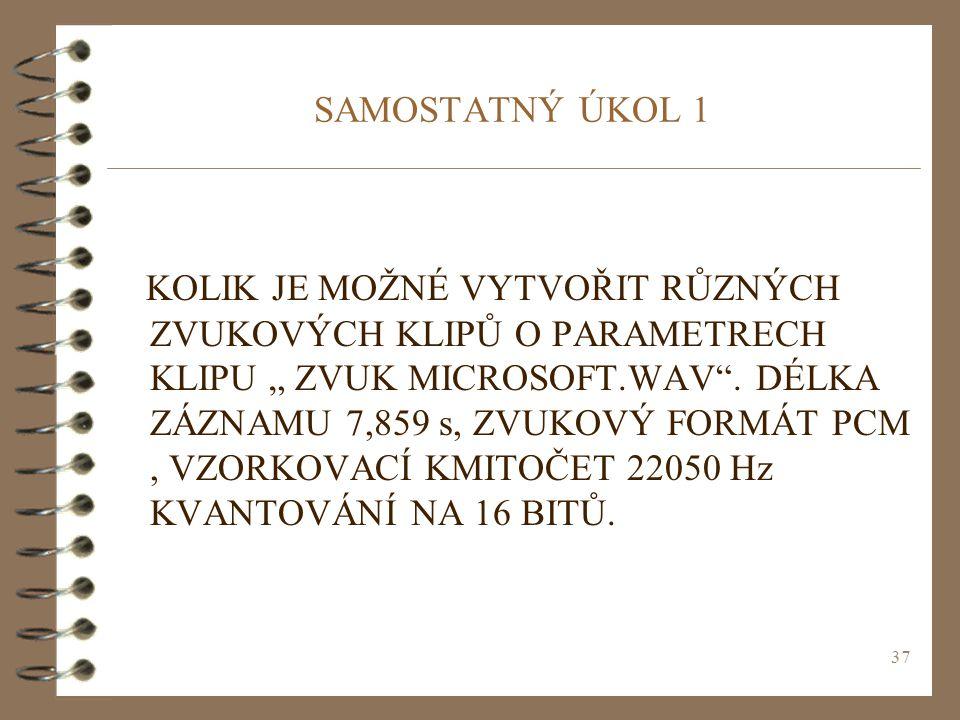 SAMOSTATNÝ ÚKOL 1