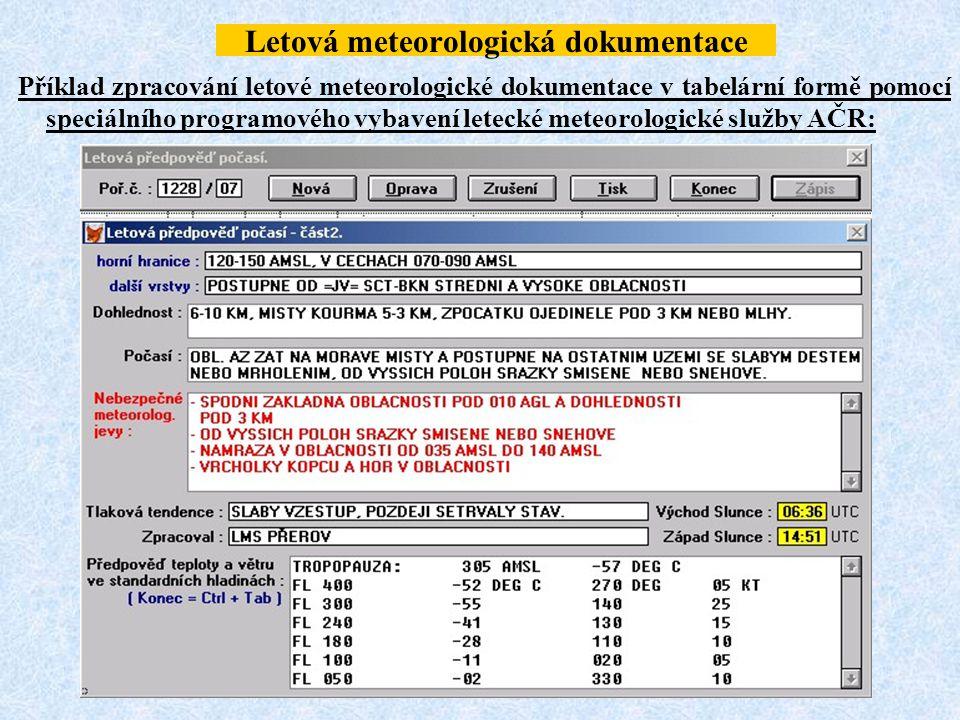 Letová meteorologická dokumentace